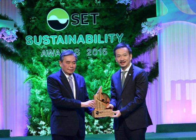 บางจากฯ คว้ารางวัลยอดเยี่ยม จาก SET Sustainability Awards 2015