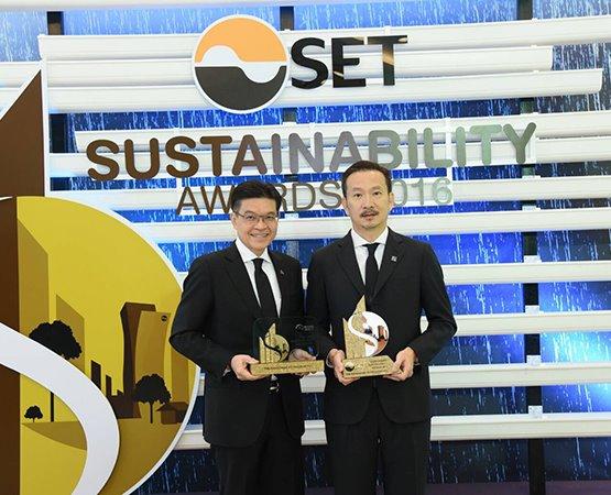 บางจากฯ คว้า 2 รางวัลด้านความยั่งยืน ในงาน SET Sustainability Awards 2016