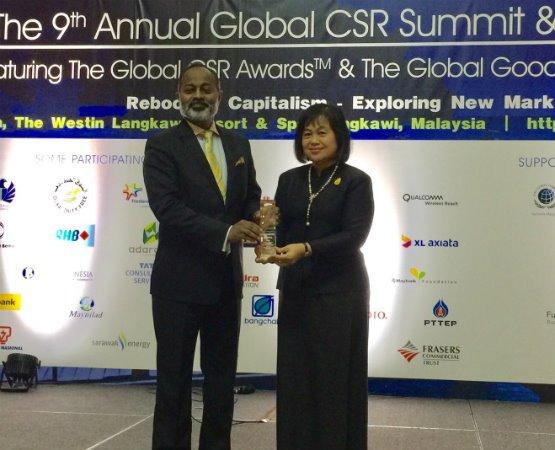 Bangchak received 3 awards at Global CSR Summit 2017
