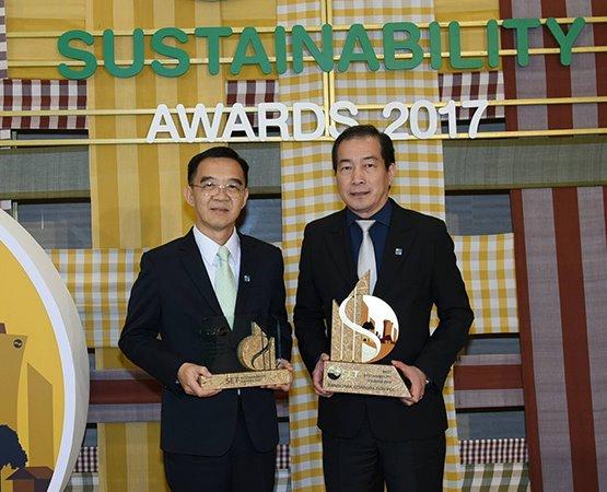 บางจากฯ คว้า 2 รางวัลด้านความยั่งยืนยอดเยี่ยม ในงาน SET Sustainability Awards 2017