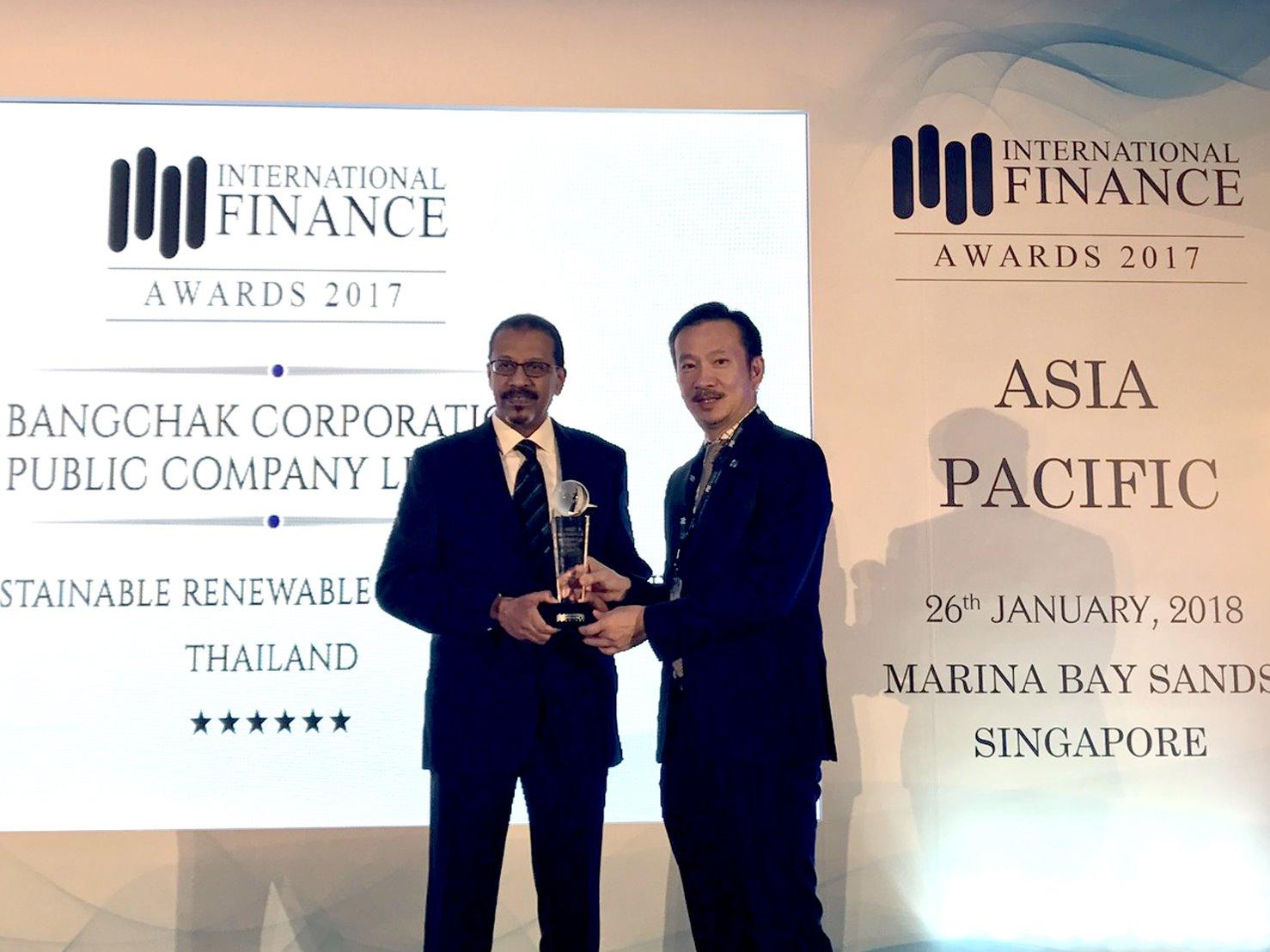 บางจากฯ รับรางวัล Most Sustainable Renewable Energy Company – Thailand