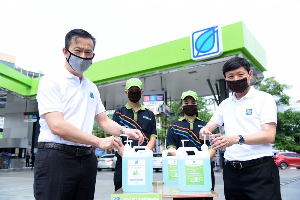 Bangchak is Set to Launch Thailand's First Free Alcohol-Gel Refilling at Service Stations; Initiative to Start at Outlets in Greater Bangkok First from Mar 23