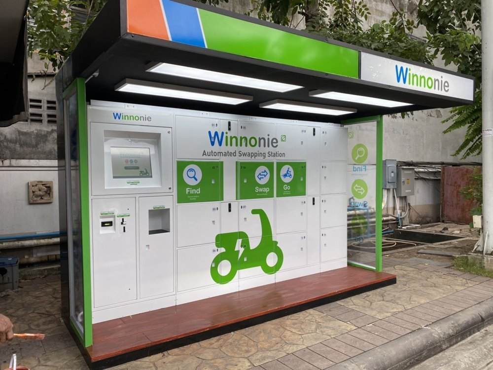 Winnonie debuts automatic battery swapping station Expanding service coverage, targeting to reduce Carbon Emissions by 75 tons per year